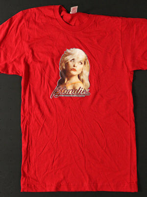 Blondie - Rare Import Shirt Red SM w/Custom Glitter Transfer 2002 Bang-On Canada
