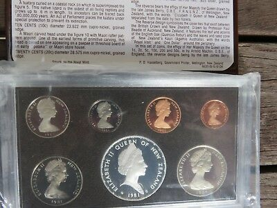 1981 New Zealand Proof coin set