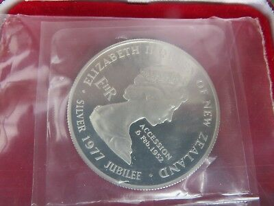 1977 New Zealand $1 silver uncirculated