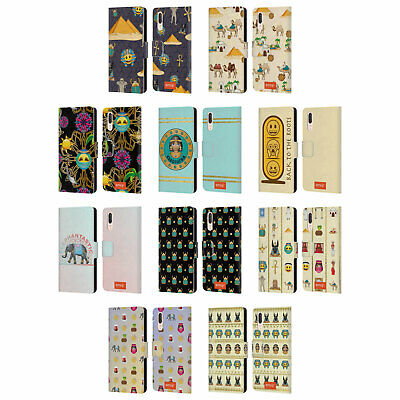 Official Emoji Ancient Egypt Leather Book Wallet Case Cover For Huawei Phones