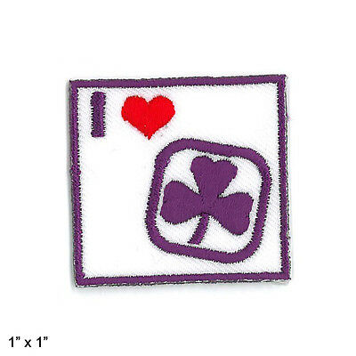 """Girl Guide Scout Brownie BADGE PATCH – new! ~ I Heart Guiding Square 1"""""""