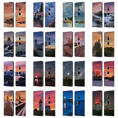 Official Michael Blanchette Lighthouses Leather Book Case For Sony Phones 1