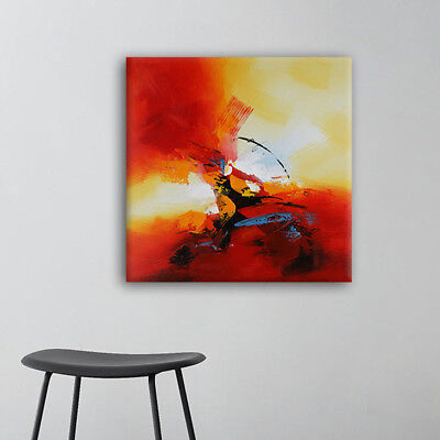 Hand Painted Original Abstract Oil Painting Wall Decor Artwork on Canvas Framed