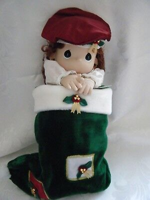 """1999 Precious Moments Limited Edition 16"""" Porcelain Stocking Doll HOLLY - NEW"""