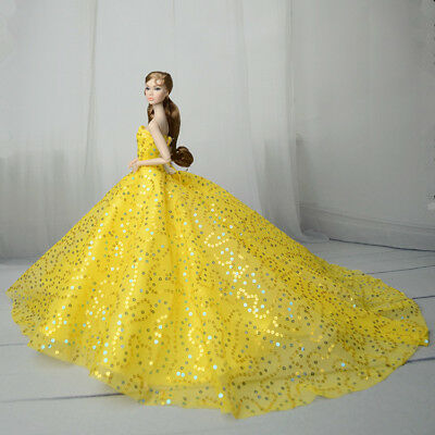 Yellow Fashion Royalty Princess Dress/Clothes/Gown For 11 in. Doll S552