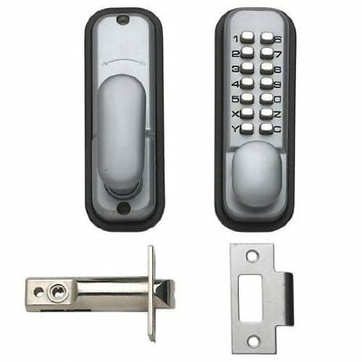 Digital Push Button Door Key Pad Lock Silver Restrict Access Compact Design New