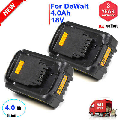 2X 4.0Ah 18V XR Li-Ion Lithium Battery For DeWalt DCB184 DCB182 DCF885 DCB180 UK