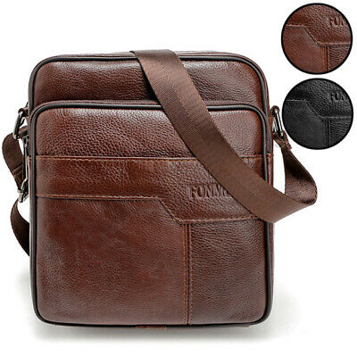 Men's Leather Briefcase Casual Business Messenger Shoulder Bag Crossbody Handbag