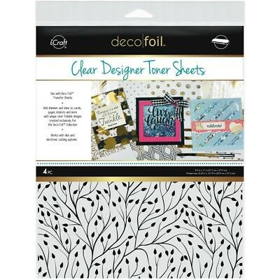 "Deco Foil Clear Toner Sheets 8.5""X11"" 4/Pkg - Branching Out"