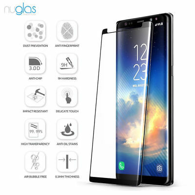 luxury 9H 3D curved Tempered Glass Screen Protector For Samsung Galaxy Note 8/9