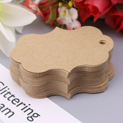 NEW 50pcs Blank Kraft Paper Hang Tags Wedding Party Favor Label Price Gift Card