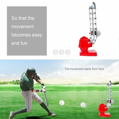 Baseball Automatic Pitching Serving Machine Battery Version Portable Red&Gray GU