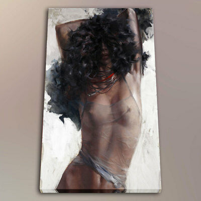Oil Painting Art HD Print Office Decor Sexy Beautiful Girl on The Canvas 24x36