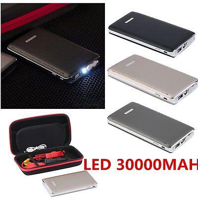 30000mAh Car Jump Starter Battery Charger Power Bank Portable Pack Booster+LED C