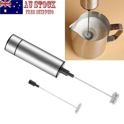 Handheld Electric Milk Frother Egg Beater Cream Coffee Foamer Whisk Tool AU SHIP