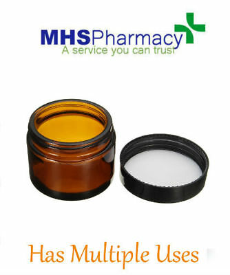 60ml Amber Glass Jar Bottles Aromatherapy Cream Ointment Cosmetic Candles Spices