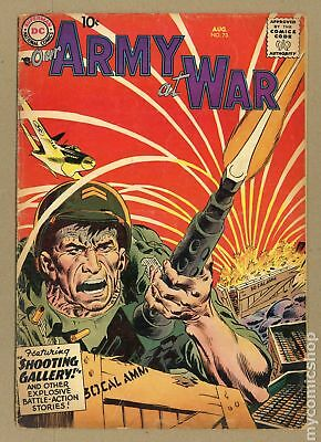 Our Army at War #73 1958 GD 2.0