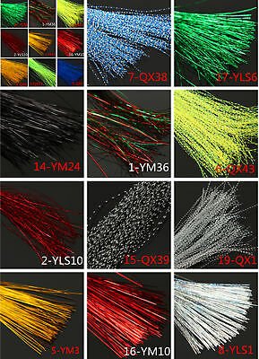 150Pcs/Bag Fly Tying Material Making Holographic Crystal Flash Lure Line 30cm
