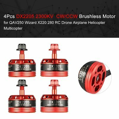 4Pcs DX2205 2300KV 2-4S CW/CCW Brushless Motor for RC Racing Drone QAV250 280  C
