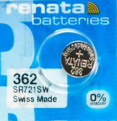 1 PCS Renata SR721SW 362 1.55V Silver Oxide Battery for Watch Swiss Made