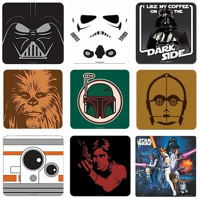 Single Coaster - Genuine Star Wars Drinks Mat Retro Gift Darth Vader Film Leia