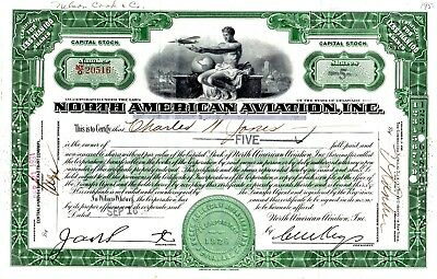 North American Aviation Incorporated 1931 Stock Certificate