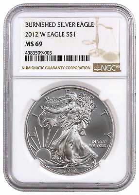 2012-W 1 oz. Burnished American Silver Eagle $1 NGC MS69 SKU26358