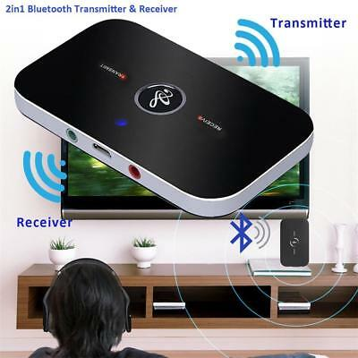 HIFI Wireless Bluetooth Transmitter Receiver 3.5mm AUX Music 2in1 Adapter