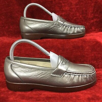 8b412543b2a SAS WINK USA 🇺🇸 Made Tripad Comfort bronze pewter leather penny loafer 5