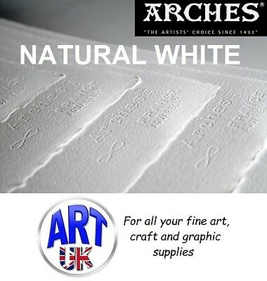 Arches NATURAL WHITE professional artists watercolour paper 156lb LARGE SHEETS