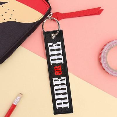 Motorcycle Keyring (Ride Or Die).black White And Red De Hot