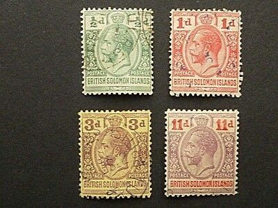 28]  Stamps Of British Solomon Islands   Very Fine Used 1913