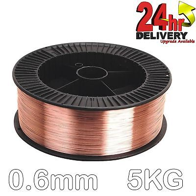 Mild Steel MIG Wire 0.6mm 5kg Spool Precision Layer Wound Copper Coated