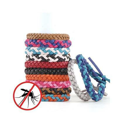 Anti Mosquito Insect Repellent Hair Band Wrist Bracelet Camping Outdoor Kid DE