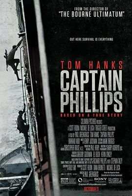 CAPTAIN PHILLIPS Movie POSTERTOM HANKS 11 X 17 Size   NEW FROM MOVIE THEATER