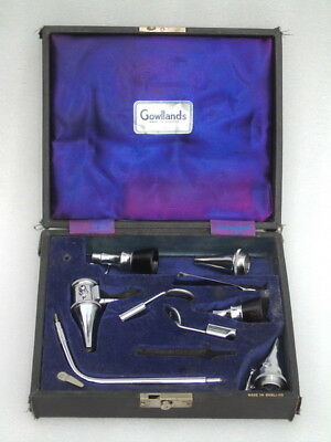 Very Rare Gowllands England Surgical English Dentist Ent Doctor Physician Set