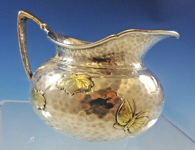 Lap Over Edge Mixed Metals by Tiffany Sterling Silver Creamer (#0130) Butterfly