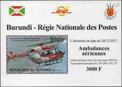 EUROCOPTER EC145 REGA Swiss Air Ambulance Helicopter Aircraft Stamp Sheet 2/2012