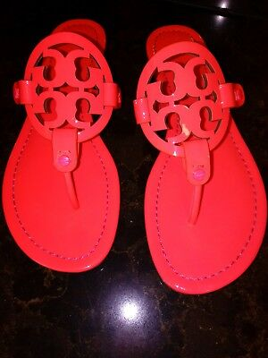 881664a2c23860 Tory Burch Miller Hot pink Red Patent Leather Sandals Women s Size 9.5 SALE  145.