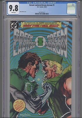 Green Lantern/ Green Arrow #1 CGC 9.8  DC 1988 Neal Adams Comic: New Frame