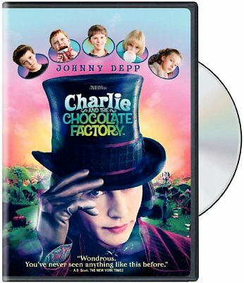 Charlie and the Chocolate Factory (DVD, 2005, Widescreen) NEW