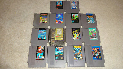 15 Game Nintendo Lot - NES - Tested - Zelda - Mario - TMNT - Punch-Out - Tetris