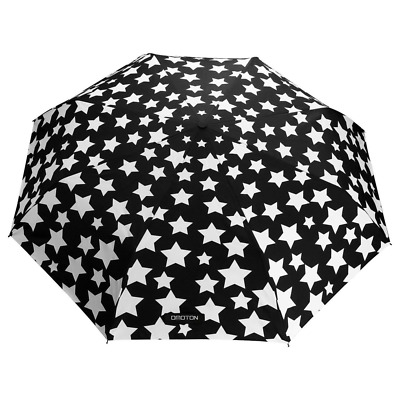 Unbreakable Windproof Fiberglass Umbrella Changes Color with Water Black NEW USA