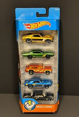 Hot Wheels Muscle Mania Five Pack Impala Firebird Mustang Charger