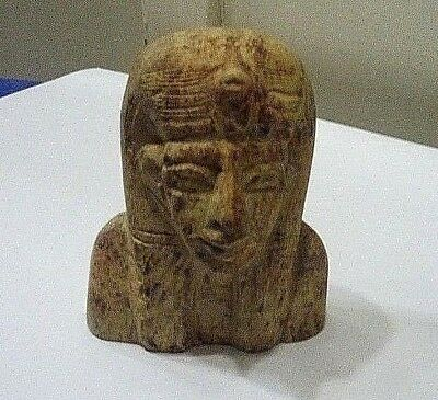 RARE ANCIENT EGYPTIAN ANTIQUE Head of Hatshepsut 1540-1510 BC