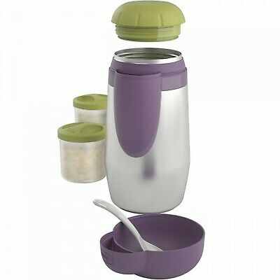Chicco Portapappa Inox Step Up Family, Argento