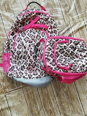 0ff6dd146 Lands' End Girls Kids ClassMate Medium Backpack with lunch bag Day Pack EUC