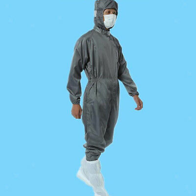 Men's Anti Static Dust Proof Coveralls Laboratory Protective Suits