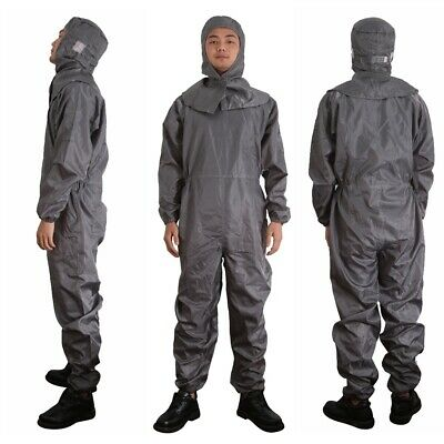 Anti Static Hooded Suit Dust Proof Coveralls Laboratory Clothing Grey