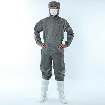 Men's Hooded Work Suits Anti Static Dust Proof Coveralls Protective Clothing
